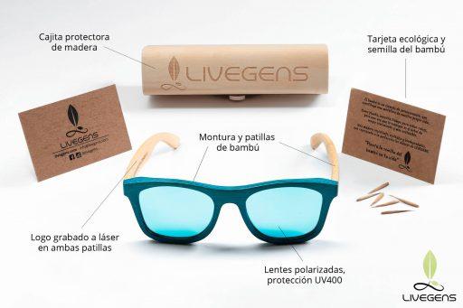 gafas de madera livegens