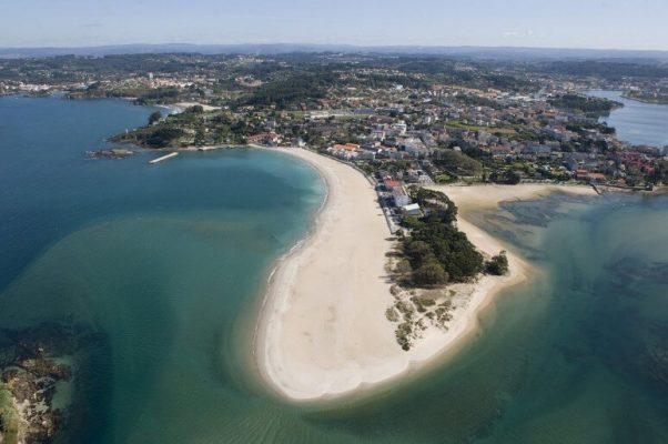 playa de Santa Cristina vista desde el aire