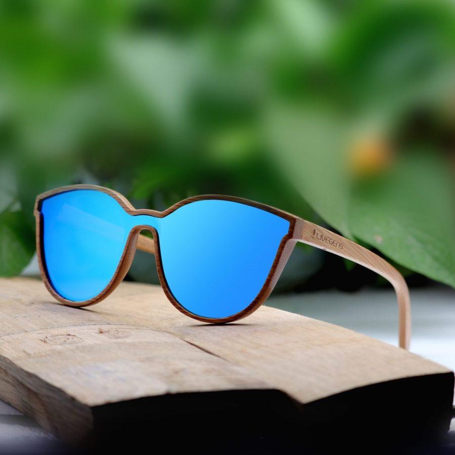 gafas de sol de bambu